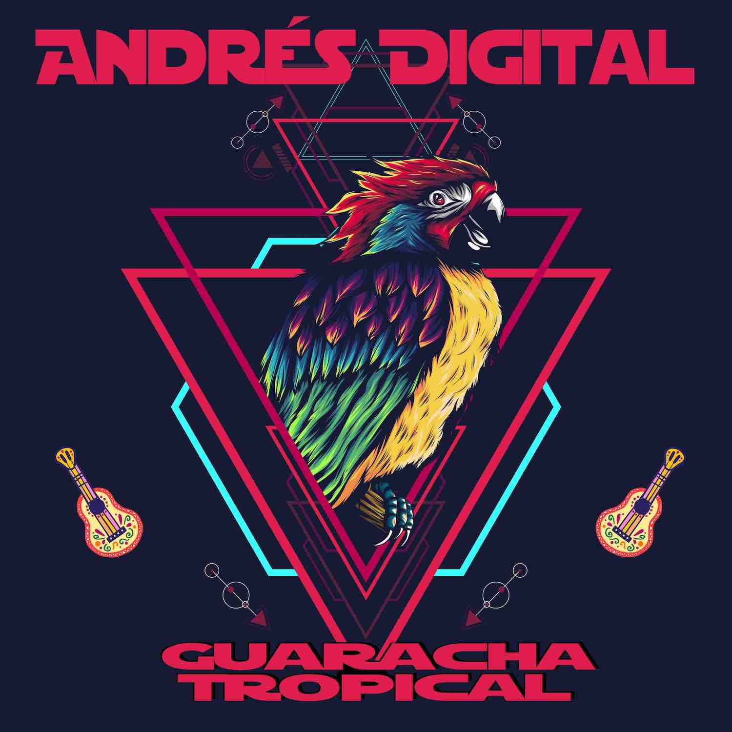 Brandnew 10 Track Album Guaracha Tropical by Andrés Digital ft. Paco Mendoza, Deela, Fanfare Ciocarlia and Caballo.